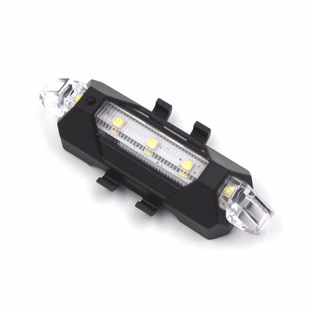Bike Accessories 5 LED Rechargeable Safety Warning Bicycle Rear Light