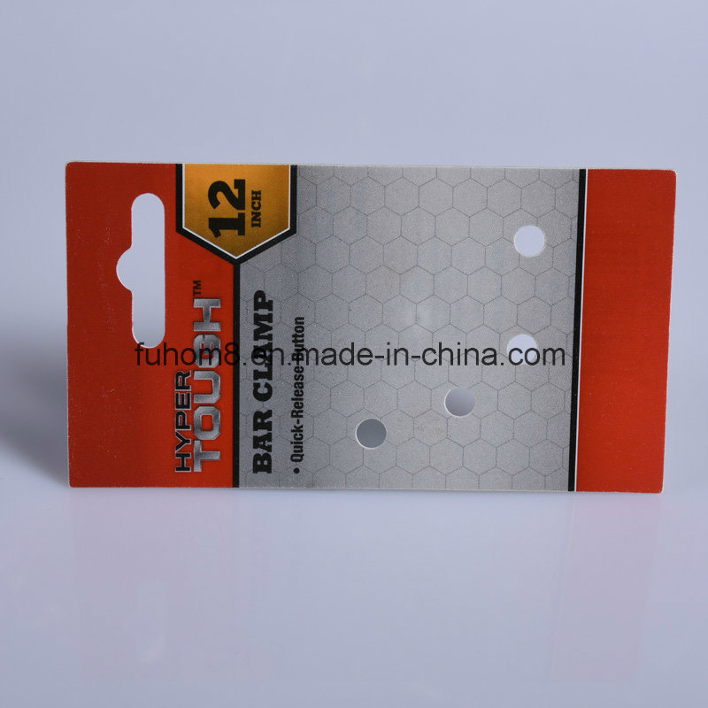 Professional Printing Plastic Hanger Card for Products Display