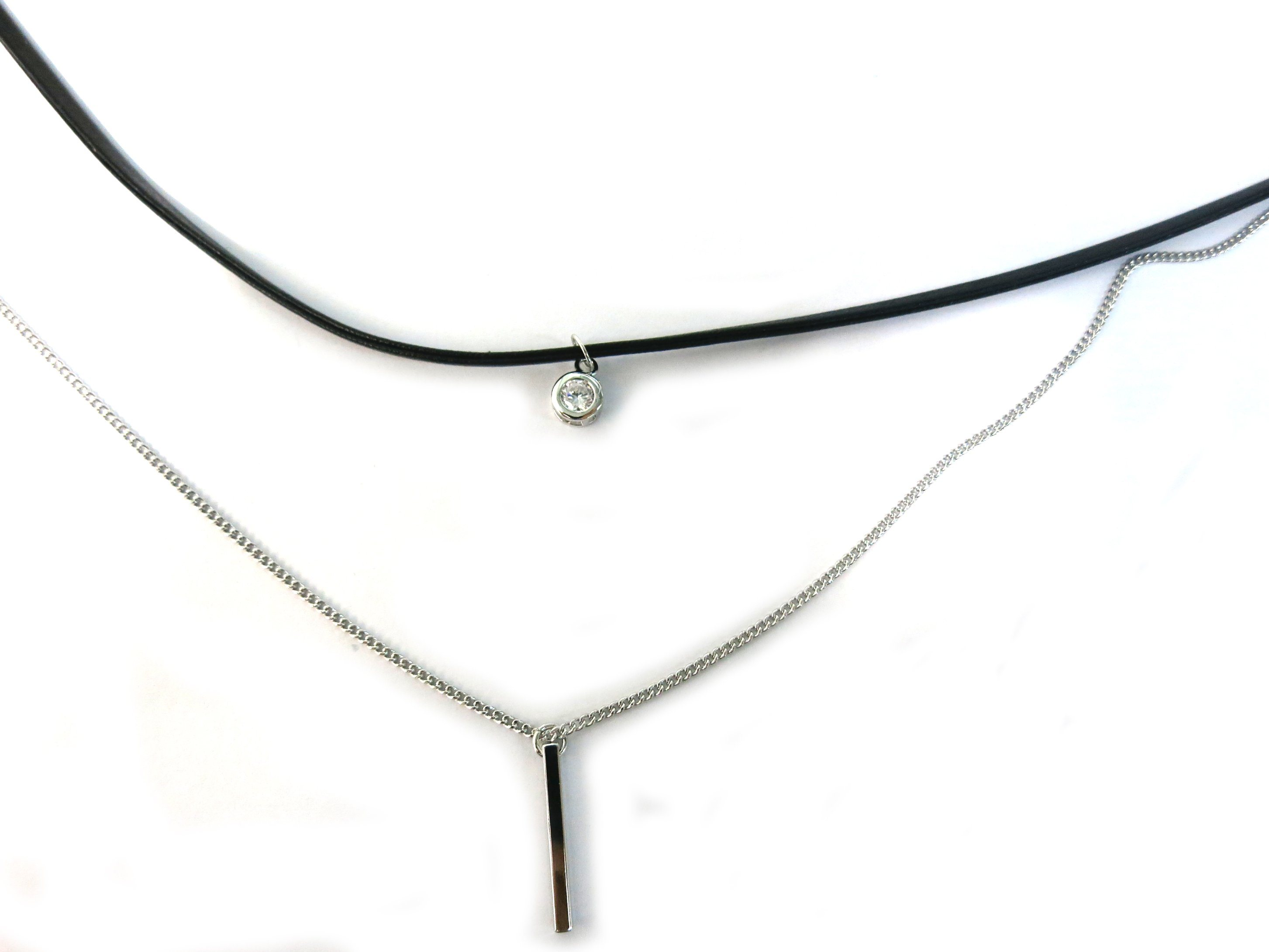 2016 Factory Direct Price 925 Silver Sterling Leather Necklace (N6859)