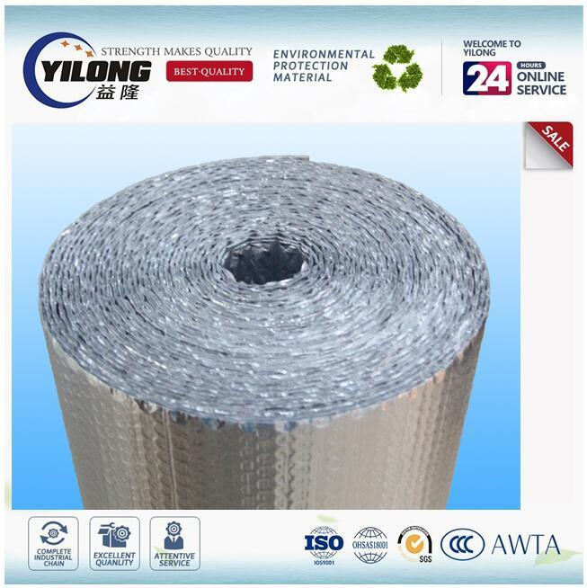 Low Wmissivity Aluminium Foil Bubble Insulation Material