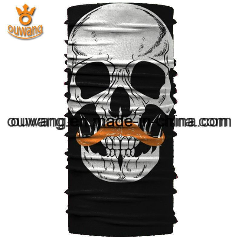 Design Your Own Magic Multifunctional Seamless Black Skull Sports Bandanas