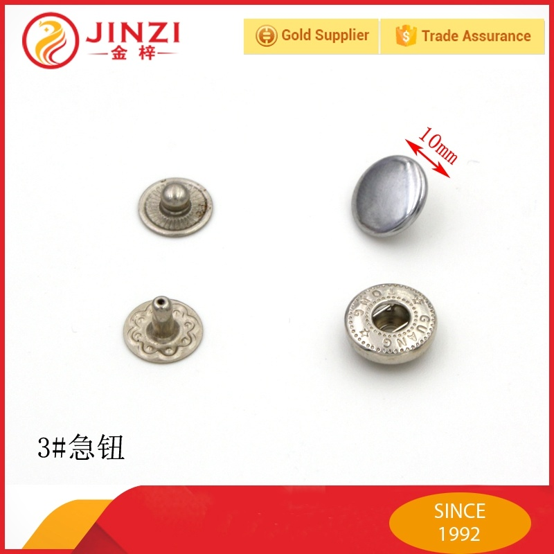 10mm Metal Fastener Metal Covered Ring Snap Button