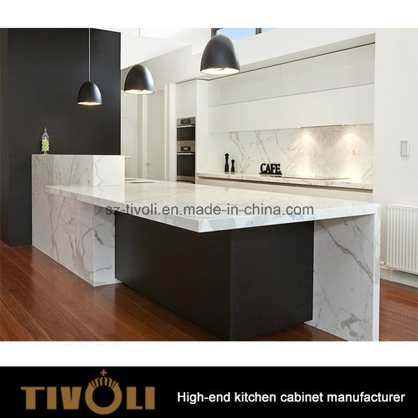 Built-in Kitchen Pantry Design Solid Wood Island Bench Top Kitchen Furniture (AP061)