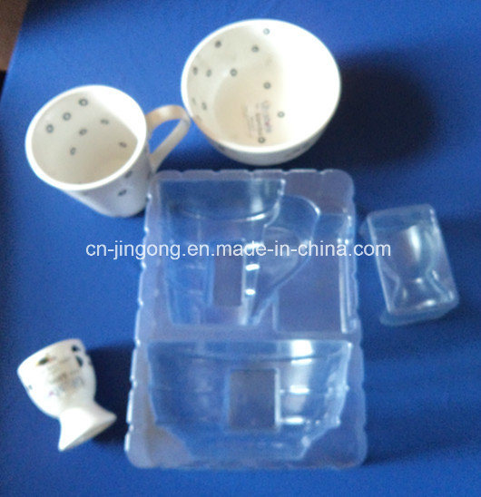 Clear PVC Blister Tray for Cup Bowl Set PVC Plastic Blister Tray