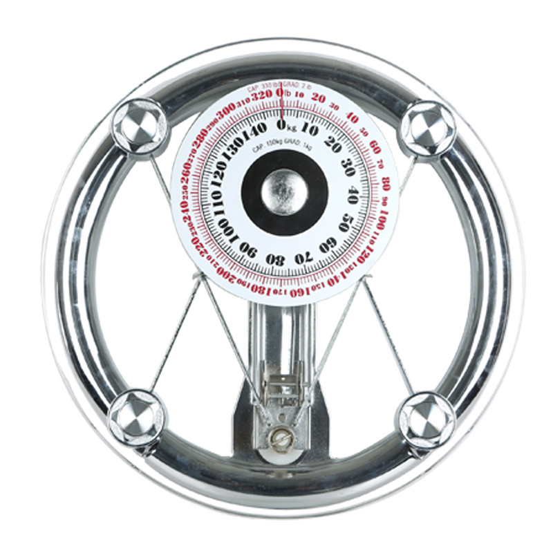 150kg 8mm Round Glass Mechanical Personal Scale Hotel Scale