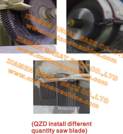GBDP-1600 High Efficiency Multi Blades Stone Cutting Machine
