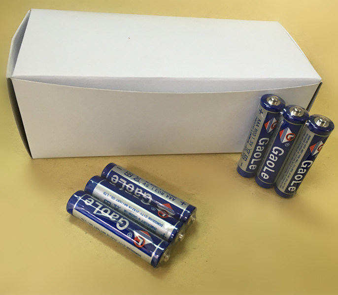 Super Power Zinc Carbon AAA Battery in White Box