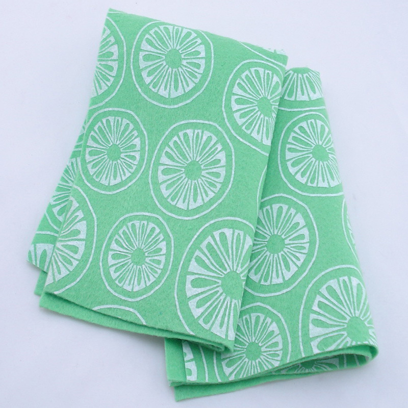 Viscose Fabric Cloth, Needle Punched Nonwoven Fabric Cleaning Cloth