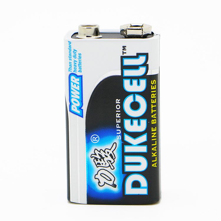 Cadmium-Free Alkaline 9V Battery (6LR61)