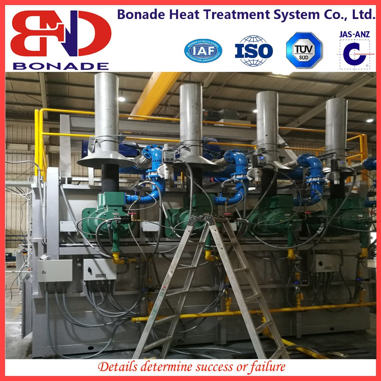 Natural Gas Forging Heating Furnace with Self Preheating Burner