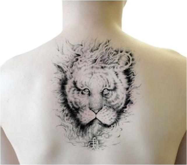 Fashionable 3D Lion Waterproof Tattoo Sticker Art Tattoo Sticker