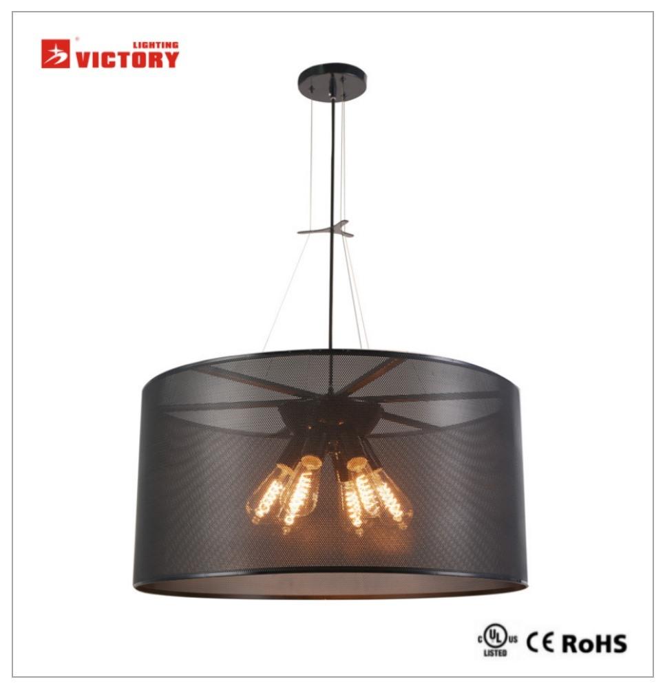 Modern Iron Chandelier LED Pendant Lamp Light for Restaurant