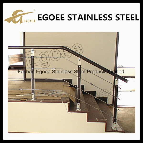 Low Price Cost Glass Stair Railing/Clear Glass Stainless Steel Railing Systems