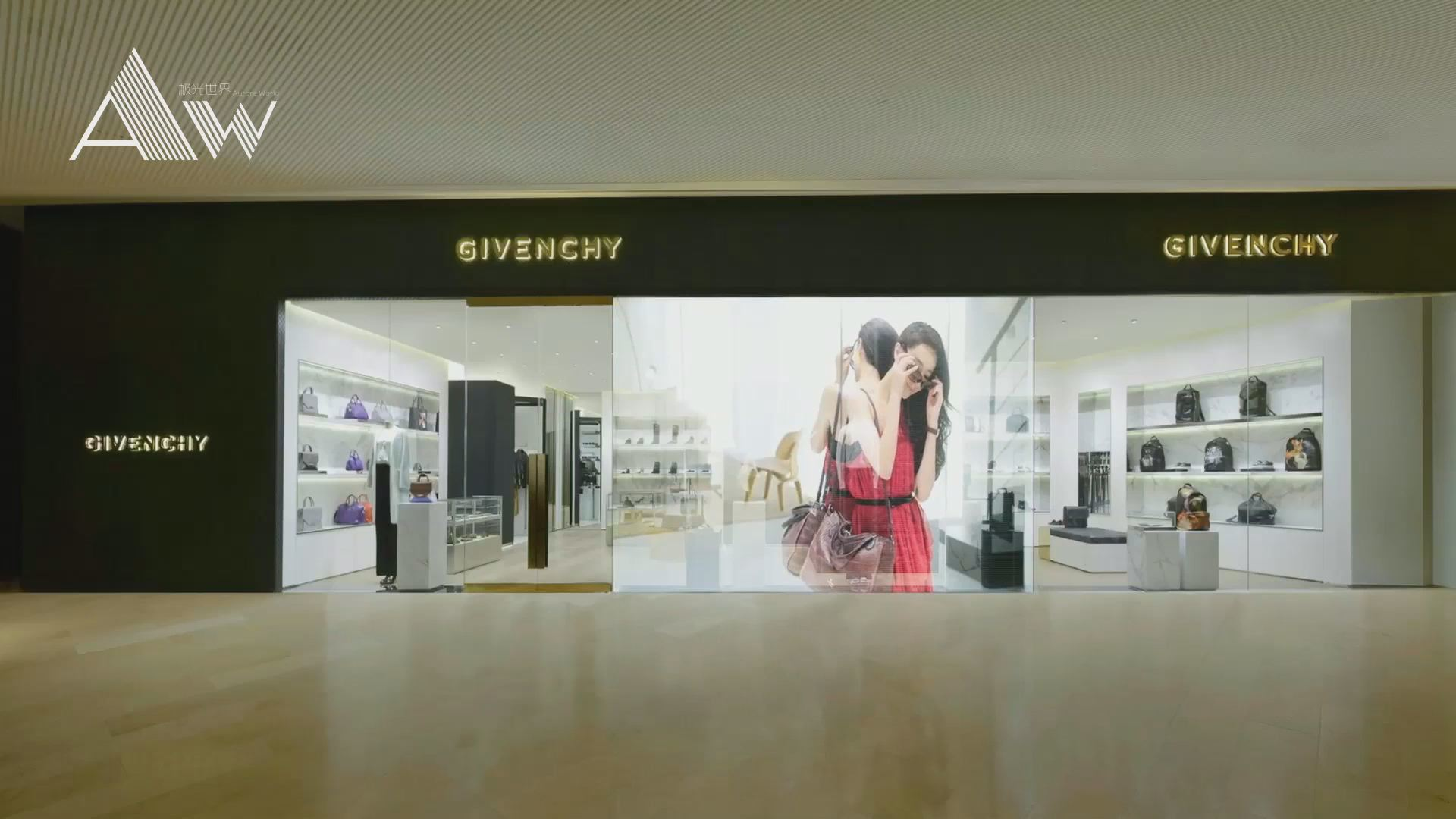 Indoor LED Glass Display Advertising