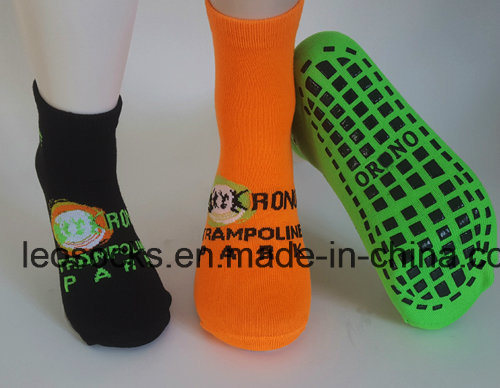 Colorful Customized Anti-Slip Breathable Trampoline Socks