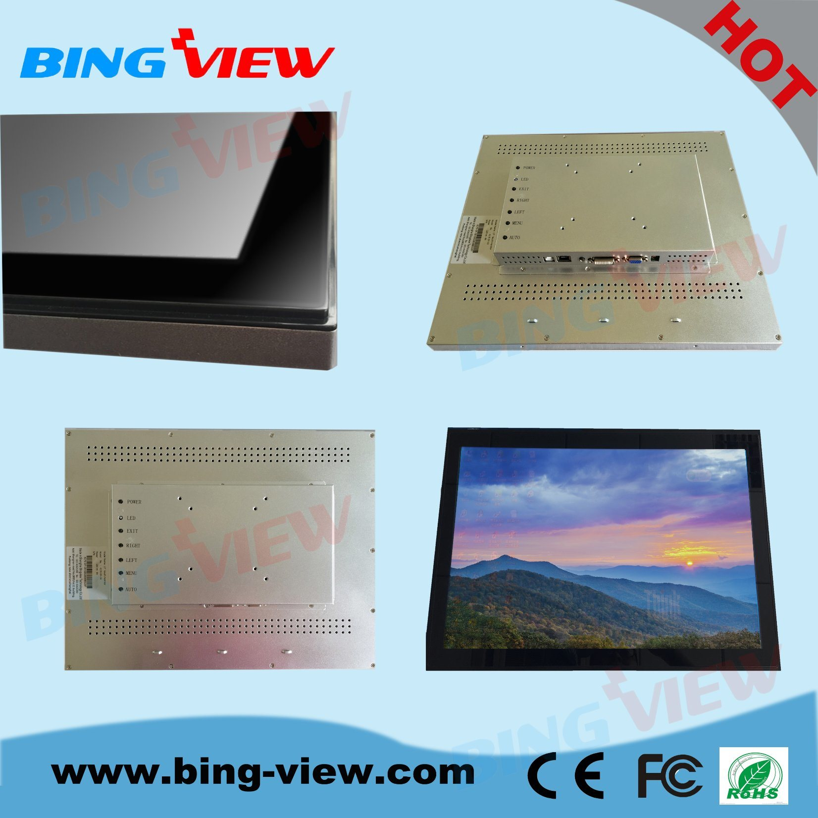 "19"" Commercial Kiosk Pcap Touch Monitor Screen"