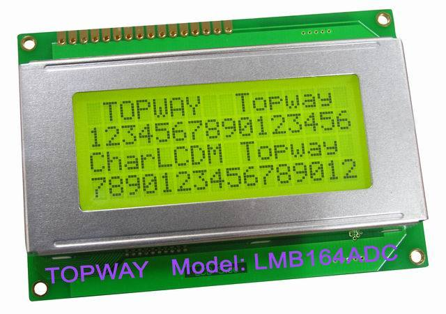 16X4 Character LCD Display Alphanumeric COB Type LCD Module (LMB164A)