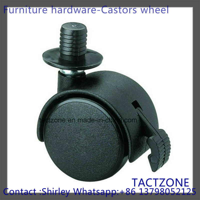 PRO Wholesale Nylon Short Plunger Heavy Duty Swiver Caster with Brake