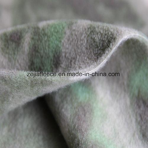 Camouflage Print Polar Fleece with Anitpilling