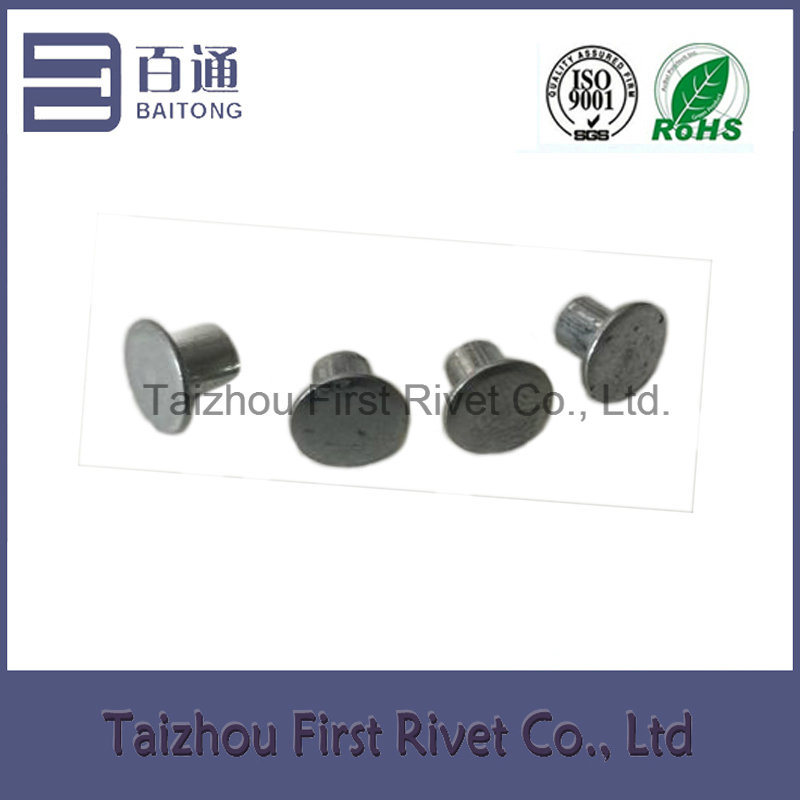 4X4.5mm Zinc Plated Flat Head Semi Tubular Steel Rivet