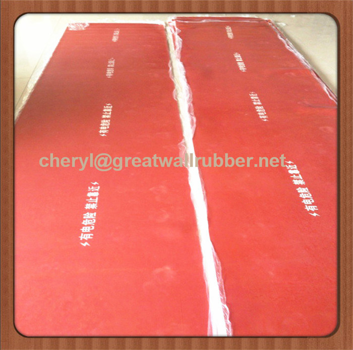 EU Certificate 26500V Rubber Insulation Sheet Mat Floor Flooring