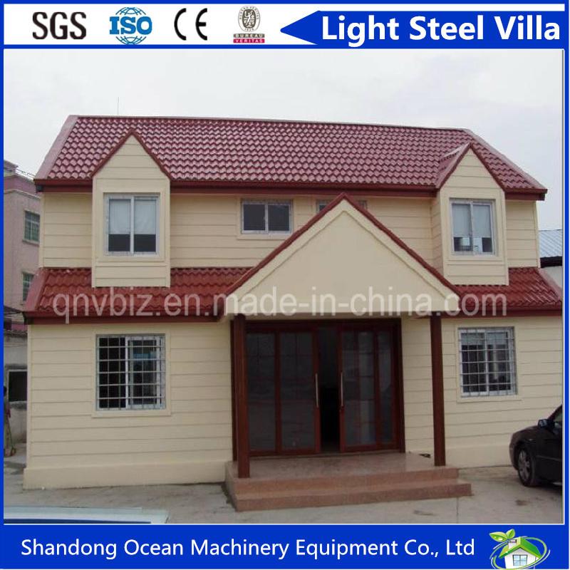 Beautiful Design Australia Standard Prefabricated Light Steel Villa Made of 100% Enviornment Friendly Raw Materials