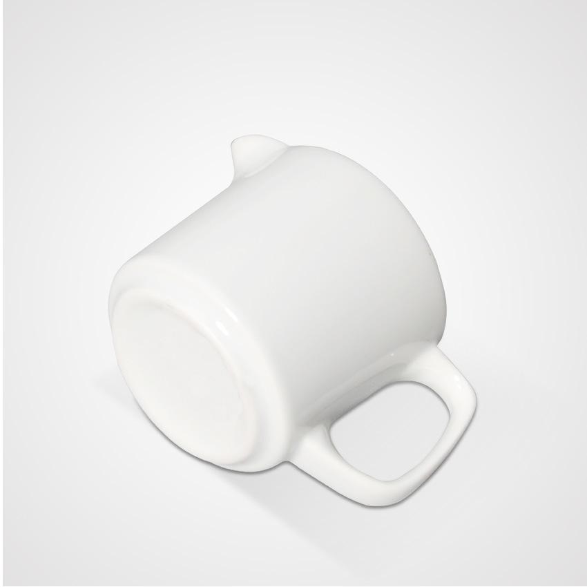 High Quality Ceramic Restaurant Super White Creamer