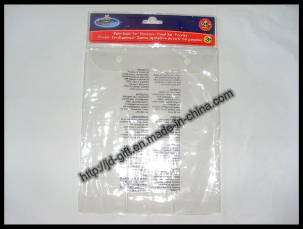 Supermarket Bag / PVC Bag / Plastic Packaging Bag / PVC Button Bag