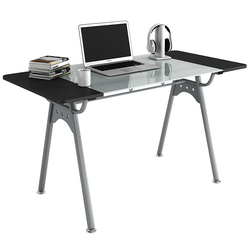 Office Furniture Glass Computer Table with Wooden