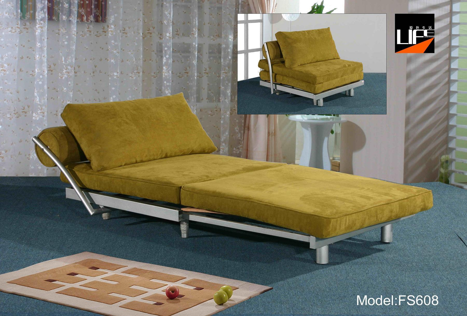 China single function sofa bed fs608 china sofa bed fuctional sofa Single couch bed
