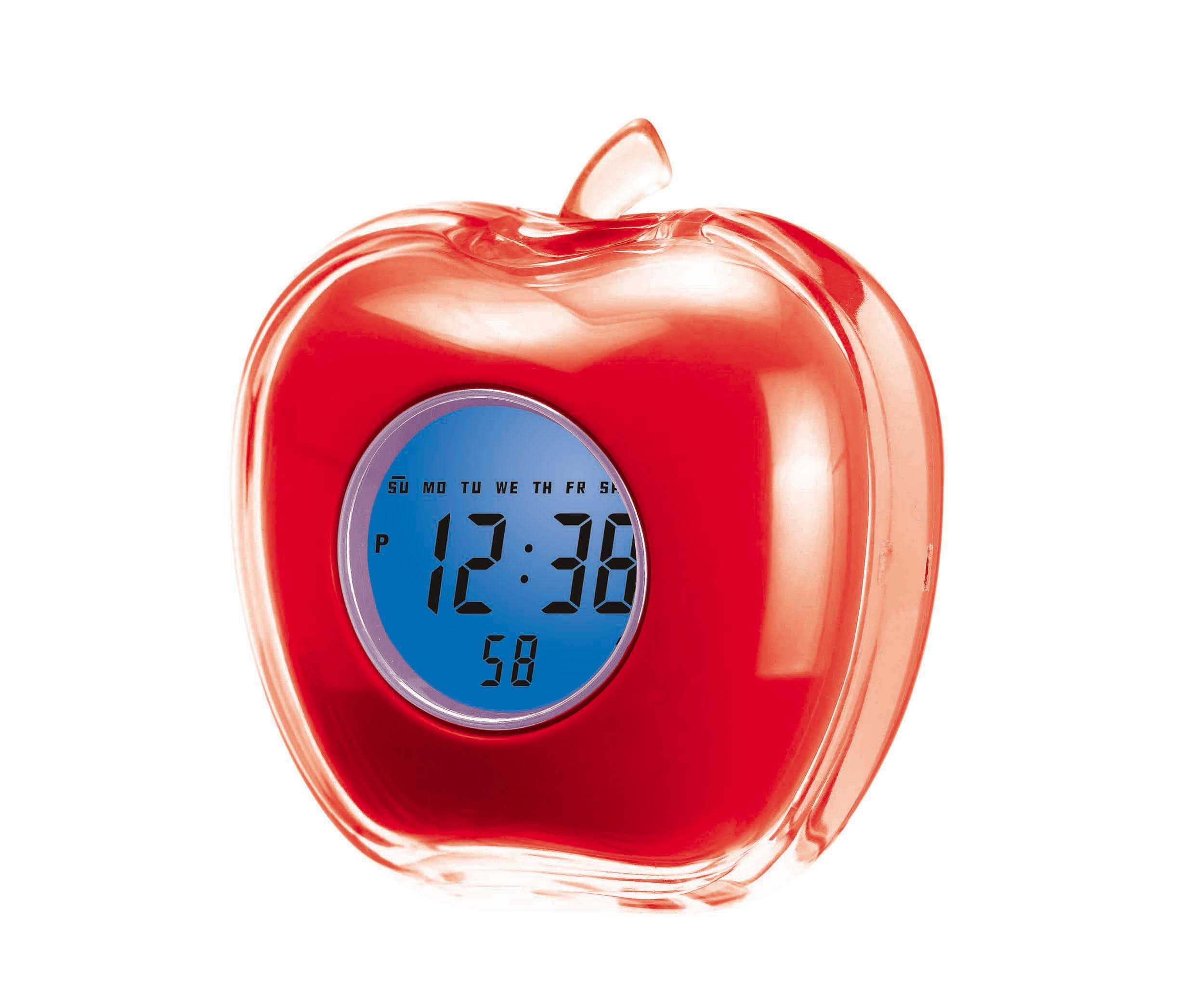 China Apple Clock (KD-355B) - China LCD clock, Desk clock
