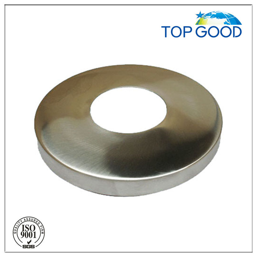 Stainless Steel Round Base Cover with Satin or Mirror Finish