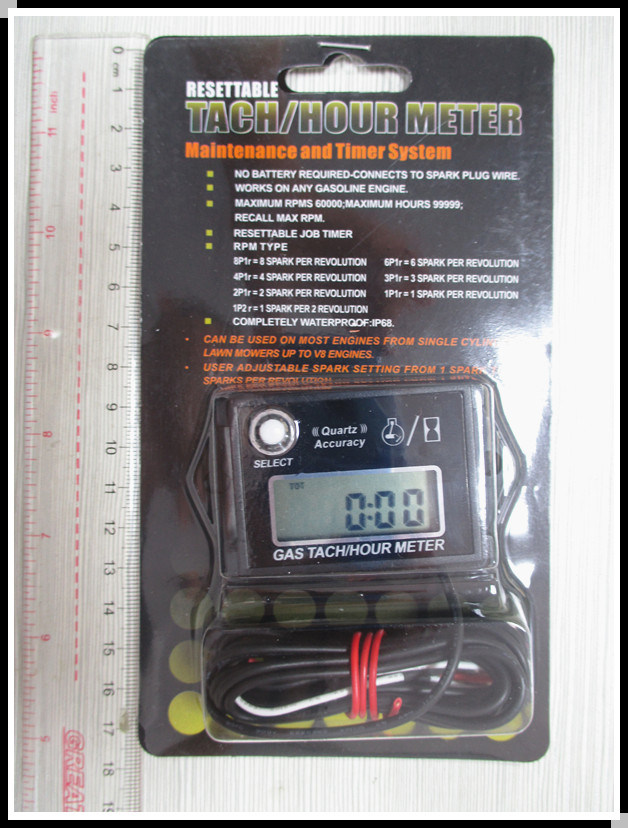 Resettable Tachometer for Motocross Engine Generators Snowmobile