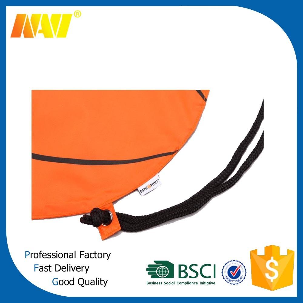 Polyester Nylon Basketball Drawstring Backpack Bag