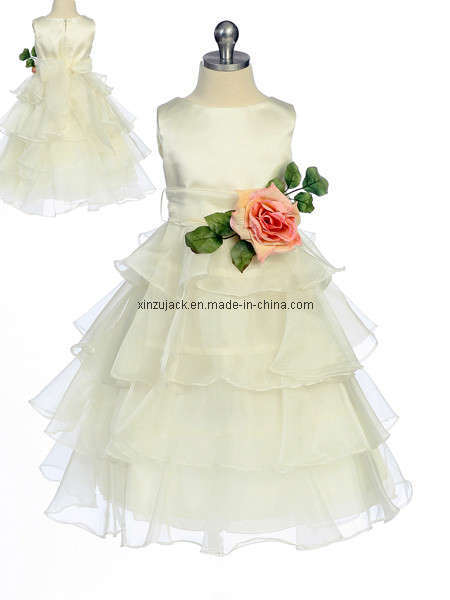 2011 New Style Flower Girl Dress (XZ417)