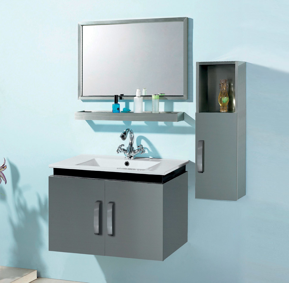 China stainless steel bathroom vanity s 0102 china stainless steel bathroom vanity bathroom Stainless steel bathroom vanities