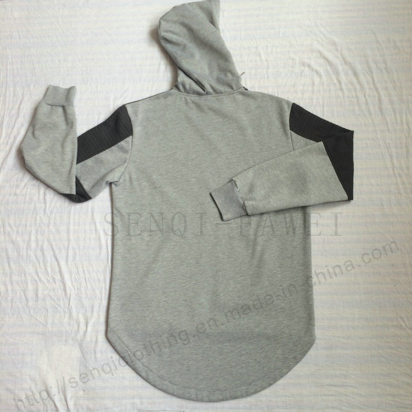 Men Leisure Fashion Fleece Longline Hoodies in Adult Clothes Fw-8662