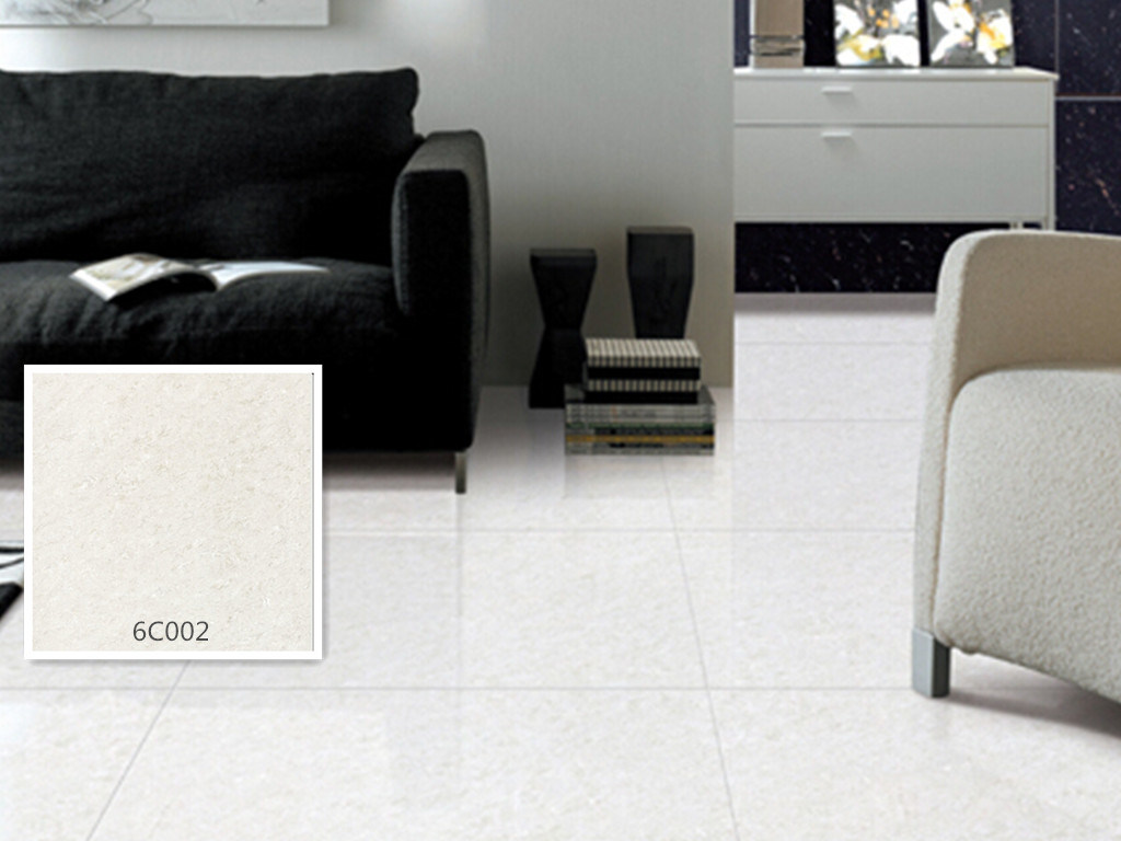 Half Body Polished Porcelain Crystal Jade White Color Floor Tile