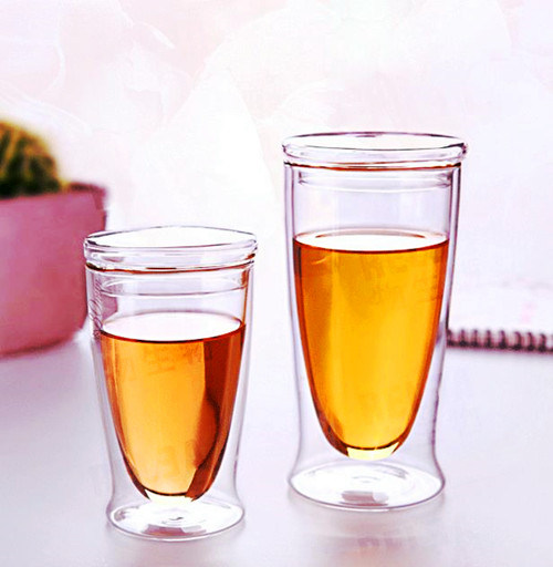 Eco-Friendly Flower Cup Office Milk Cup Glass Coffee Cup
