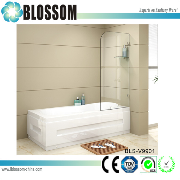 Modern Design Glass Shower Wall Bathtub Shower Screen (BLS-V9901)