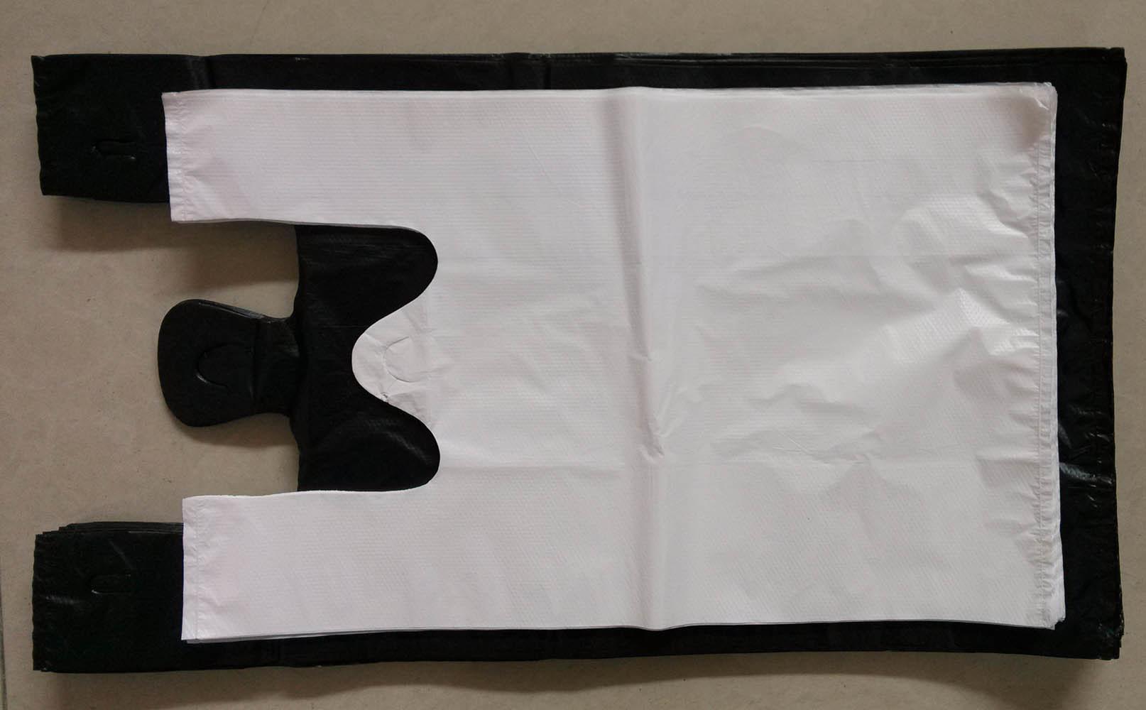 HDPE Plain Plastic Vest Handle Bag