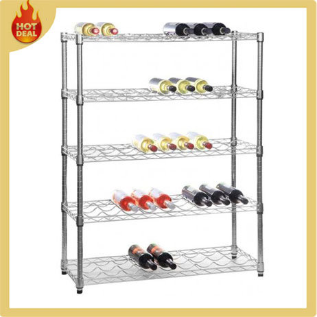 Chrome Metal Display Steel Storage Wire Mesh Rack