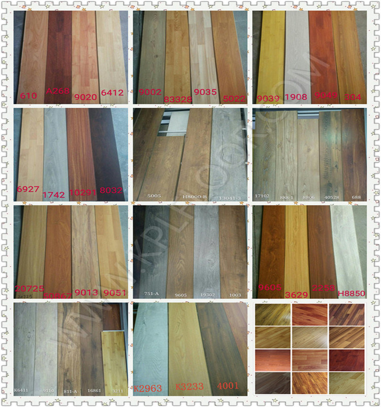 Laminate Floor HDF AC3 AC4 8mm in More Colors