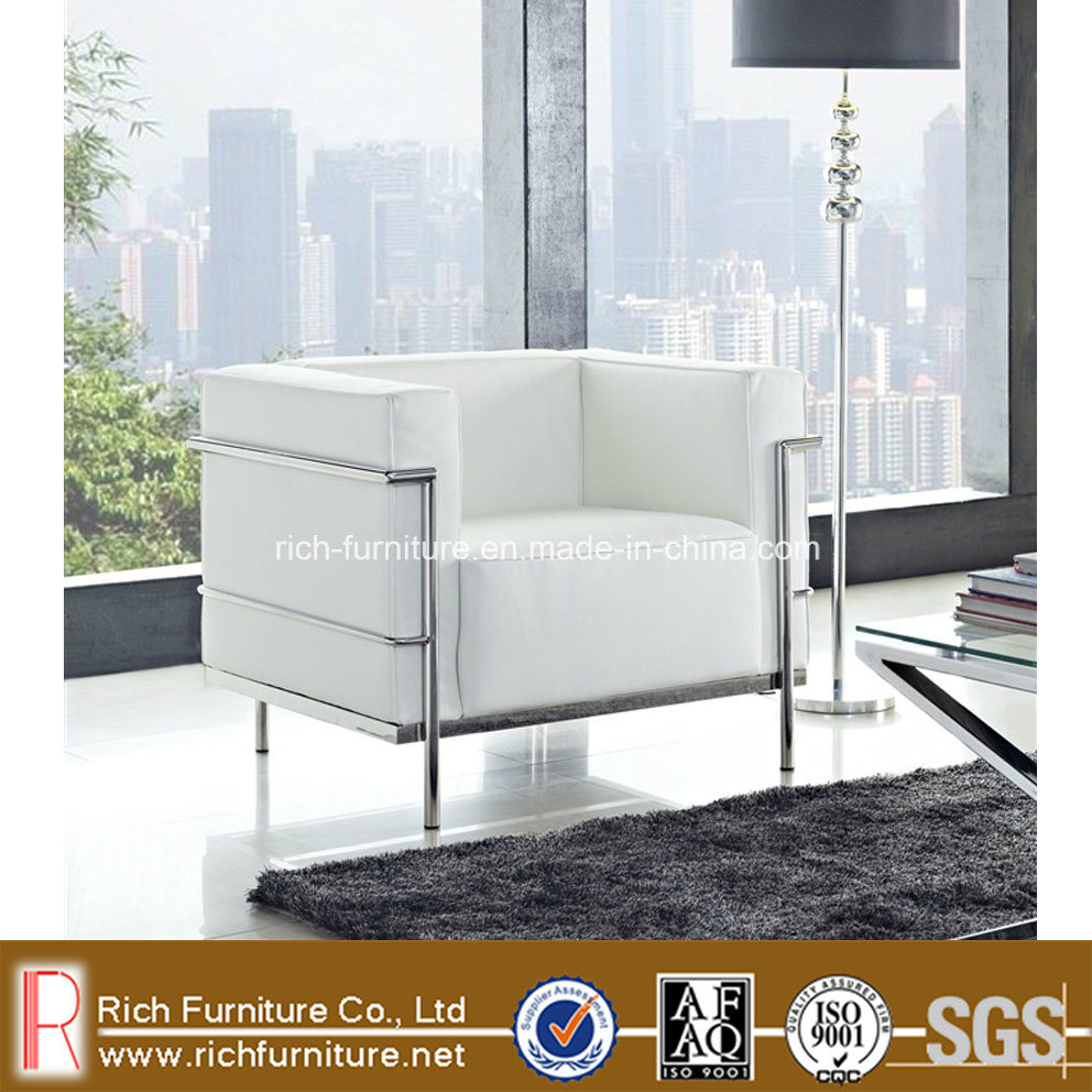 LC3 Modern Classic New Sofa with Stainless Frame, Leather Cover (RF-LC3)