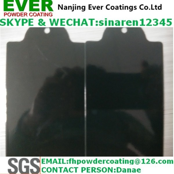 Ral9005 Powder Coating Electrostatic Spray Black Color Smooth Glossy Powder Paint