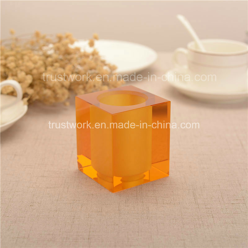 Natural Color K9 Crystal Candle Holder