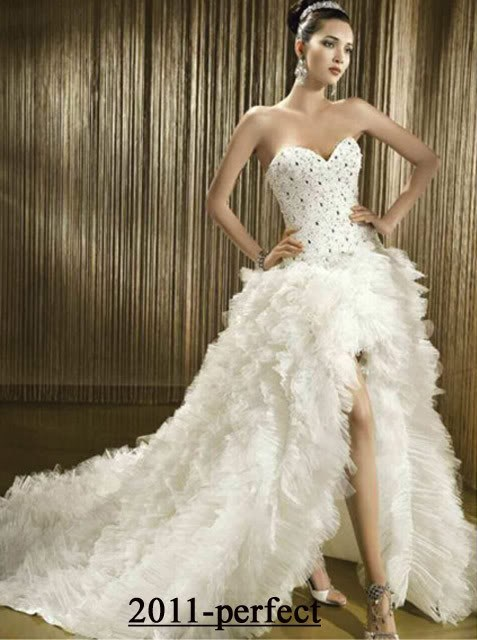 China Front Short Long Back Mermaid Wedding Dresses (88011663) - China ...
