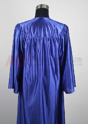 High School Graduation Cap and Gown Shiny Royal Blue