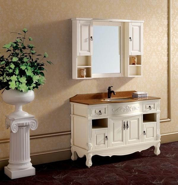 Vanit antique de cabinet de salle de bains se1203 for Cabinet de salle de bain