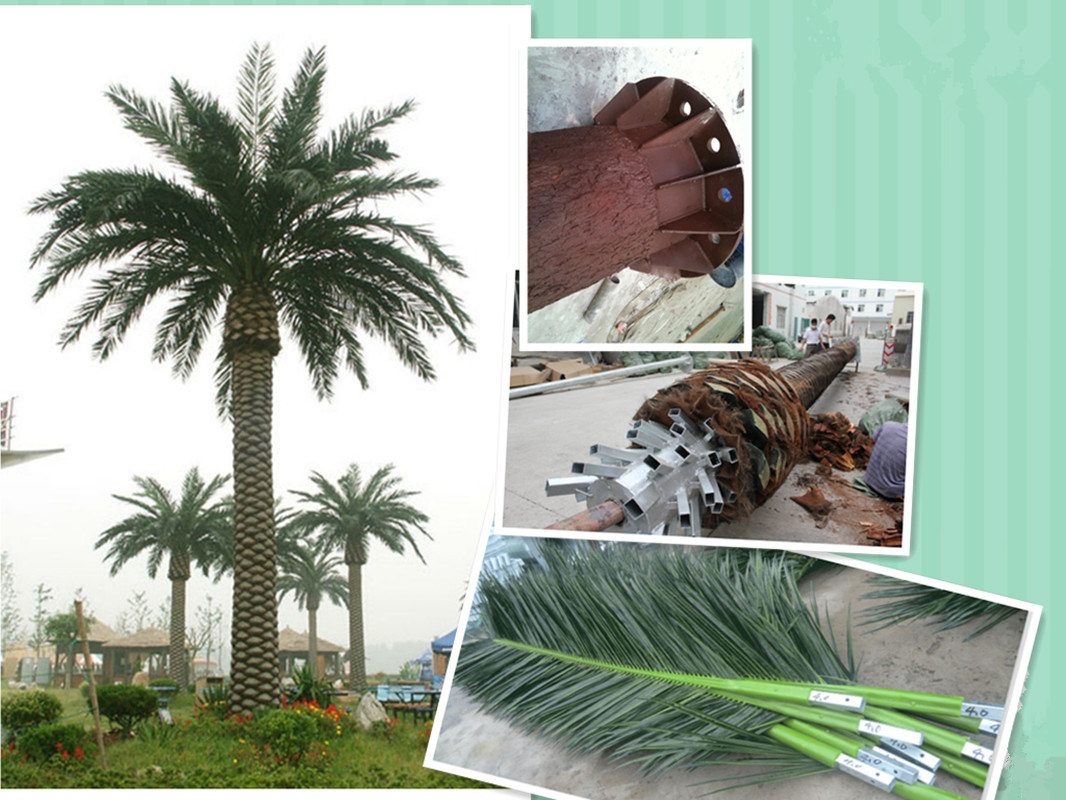 Camouflaged Palm Tree Antenna Telecommunication Tower
